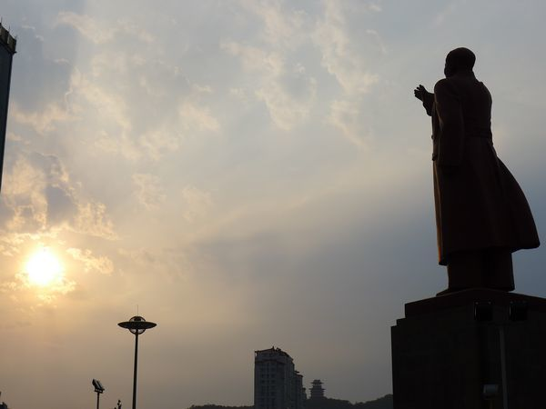 Dandong China Mao Statue