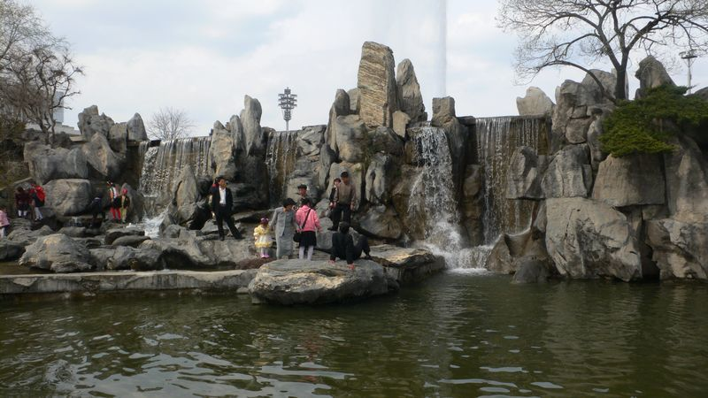 Mansudae Fountain Park