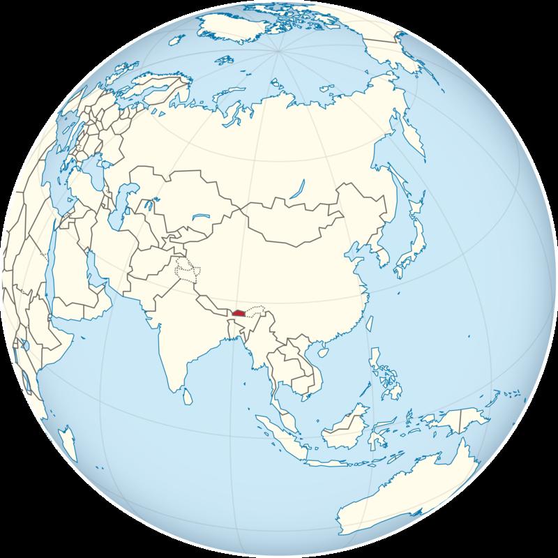 bhutan on world map Bhutan Map Where Is Bhutan Koryo Tours bhutan on world map