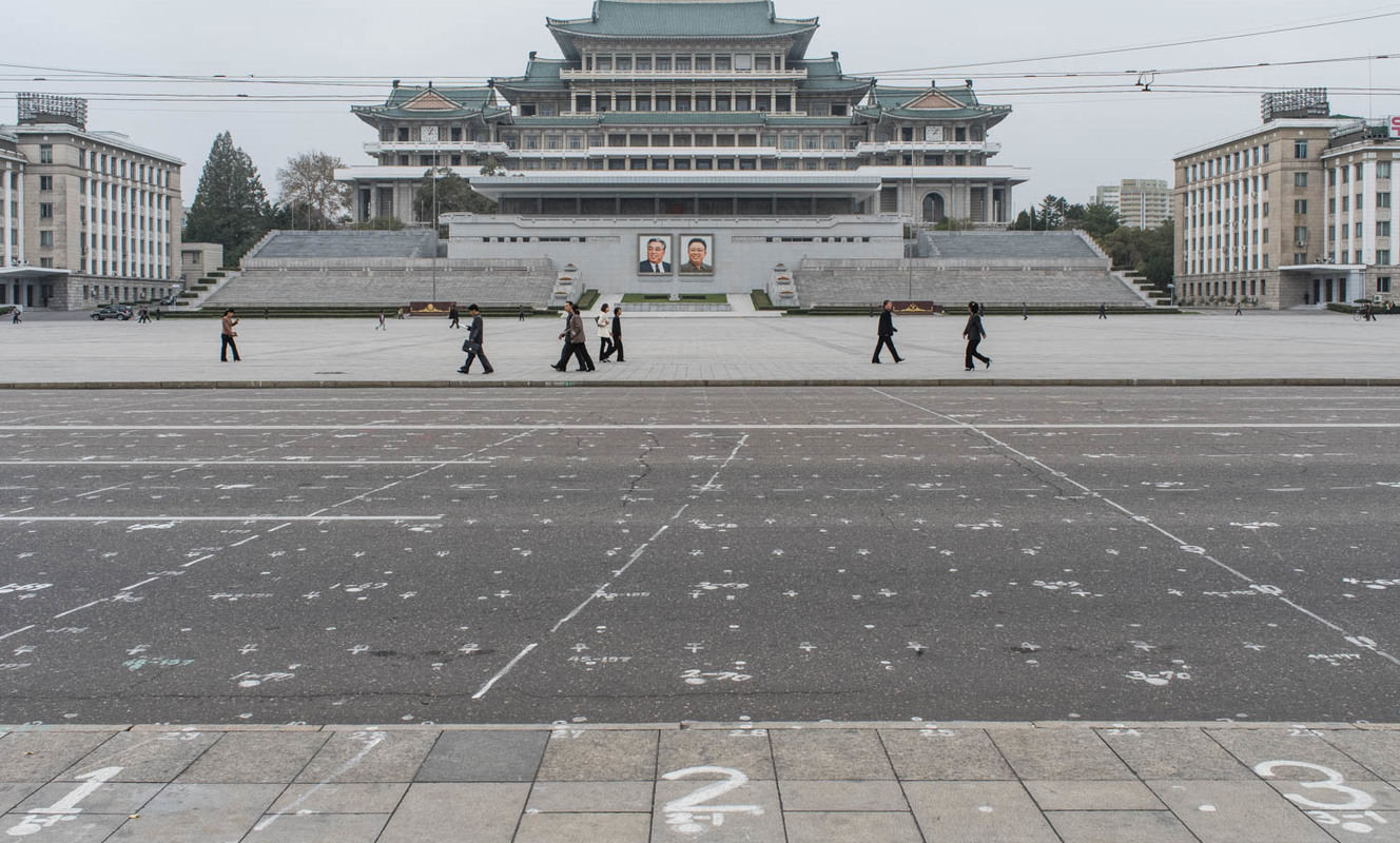 Large kim il sung square north korea