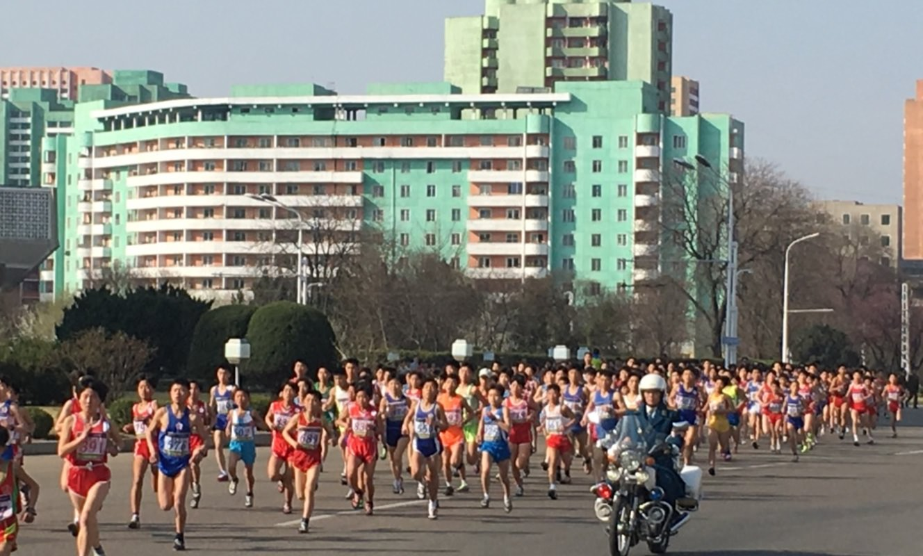 Large pyongyang marathon north korea travel guide