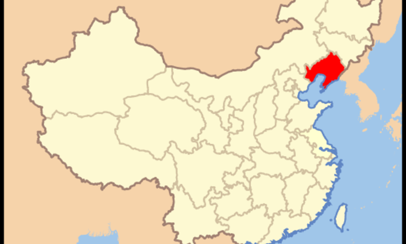Large map of prc liaoning
